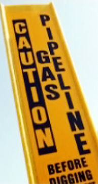 Pipeline Caution Marker